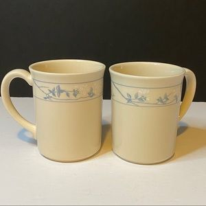 Vtg Corning Ware First of Spring Coffee Cups Set 2